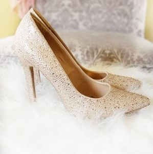 Diba Blush Sparkly Heels